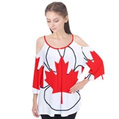 Mega Paw Canadian Flag Flutter Tees