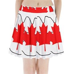 Mega Paw Canadian Flag Pleated Mini Skirt