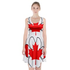 Mega Paw Canadian Flag Racerback Midi Dress