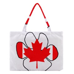 Mega Paw Canadian Flag Medium Tote Bag