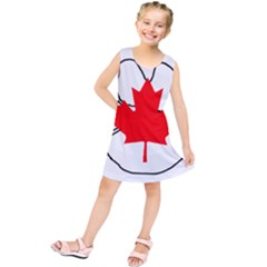 Mega Paw Canadian Flag Kids  Tunic Dress