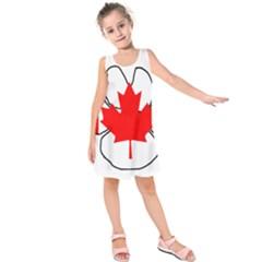 Mega Paw Canadian Flag Kids  Sleeveless Dress
