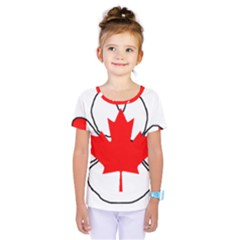 Mega Paw Canadian Flag Kids  One Piece Tee