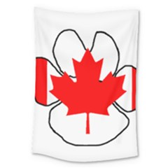 Mega Paw Canadian Flag Large Tapestry