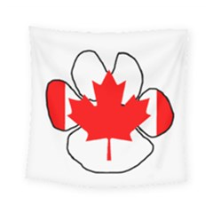 Mega Paw Canadian Flag Square Tapestry (Small)