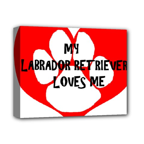 My Lab Loves Me Deluxe Canvas 14  x 11