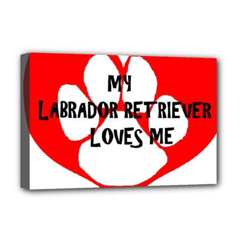 My Lab Loves Me Deluxe Canvas 18  x 12