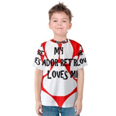 My Lab Loves Me Kids  Cotton Tee