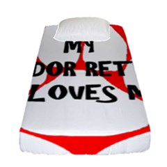 My Lab Loves Me Fitted Sheet (Single Size)