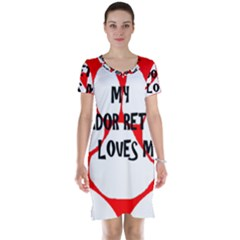 My Lab Loves Me Short Sleeve Nightdress