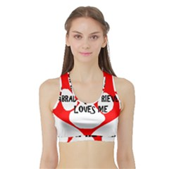 My Lab Loves Me Sports Bra with Border