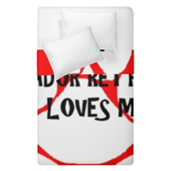 My Lab Loves Me Duvet Cover Double Side (Single Size)