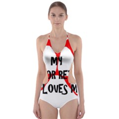 My Lab Loves Me Cut-Out One Piece Swimsuit