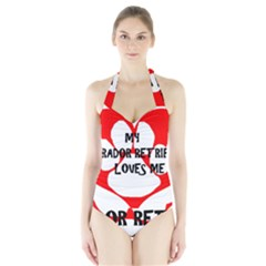 My Lab Loves Me Halter Swimsuit