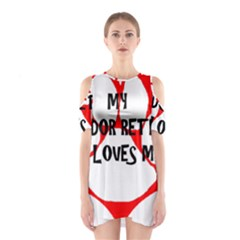 My Lab Loves Me Shoulder Cutout One Piece
