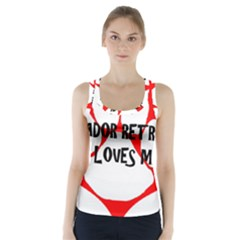 My Lab Loves Me Racer Back Sports Top