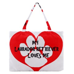 My Lab Loves Me Medium Zipper Tote Bag