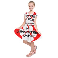 My Lab Loves Me Kids  Short Sleeve Dress