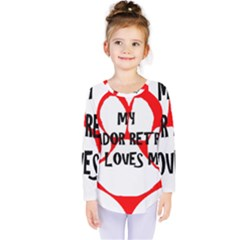 My Lab Loves Me Kids  Long Sleeve Tee