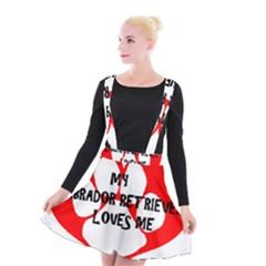 My Lab Loves Me Suspender Skater Skirt