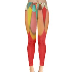 Colors On Red Leggings