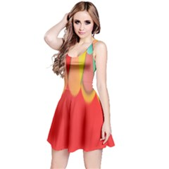 Colors On Red Reversible Sleeveless Dress