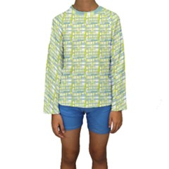 Geometric Pattern 194 V2 170321 Kids  Long Sleeve Swimwear