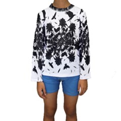 Black roses and ravens  Kids  Long Sleeve Swimwear