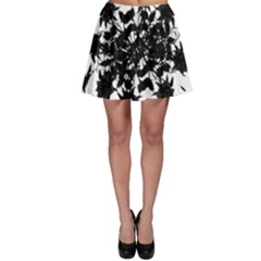 Black roses and ravens  Skater Skirt