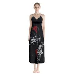 Slash Chiffon Maxi Dress