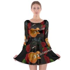 Puli dog - Slash  Long Sleeve Skater Dress