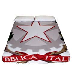 Emblem of Italy Fitted Sheet (Queen Size)