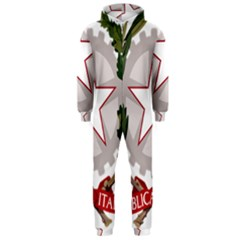 Emblem of Italy Hooded Jumpsuit (Men)