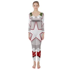 Emblem of Italy Long Sleeve Catsuit