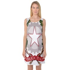 Emblem of Italy Sleeveless Satin Nightdress