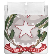 Emblem of Italy Duvet Cover Double Side (Queen Size)