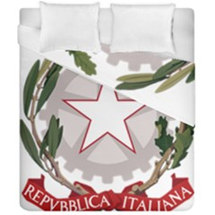 Emblem of Italy Duvet Cover Double Side (California King Size)