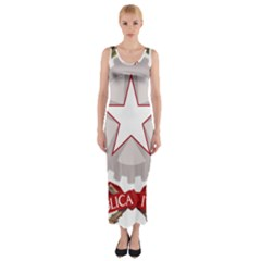 Emblem of Italy Fitted Maxi Dress
