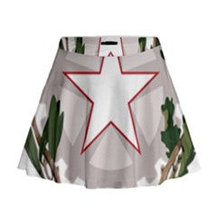 Emblem of Italy Mini Flare Skirt