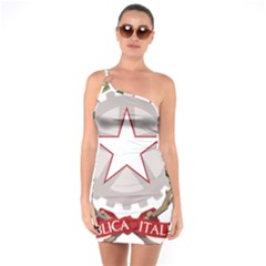 Emblem of Italy One Soulder Bodycon Dress