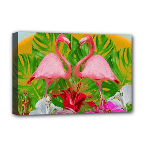 Flamingo Deluxe Canvas 18  x 12
