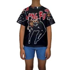 Kung Fu  Kids  Short Sleeve Swimwear