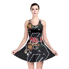 Kung Fu  Reversible Skater Dress