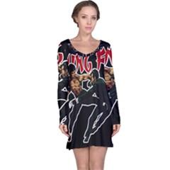 Kung Fu  Long Sleeve Nightdress
