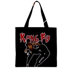 Kung Fu  Zipper Grocery Tote Bag