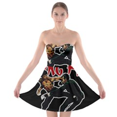 Kung Fu  Strapless Bra Top Dress