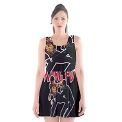 Kung Fu  Scoop Neck Skater Dress