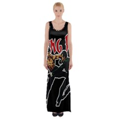 Kung Fu  Maxi Thigh Split Dress