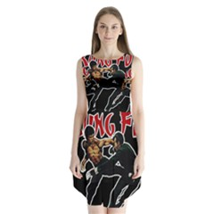 Kung Fu  Sleeveless Chiffon Dress