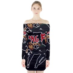 Kung Fu  Long Sleeve Off Shoulder Dress